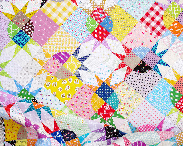 Pickle Dish Variation Quilt | Red Pepper Quilts 2015