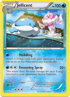 Jellicent Phantom Forces Pokemon Card