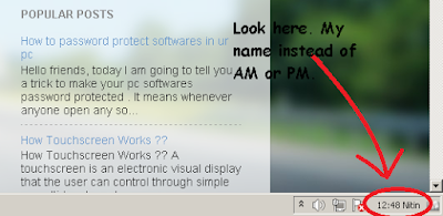 How To Show Your Name After Time In Taskbar