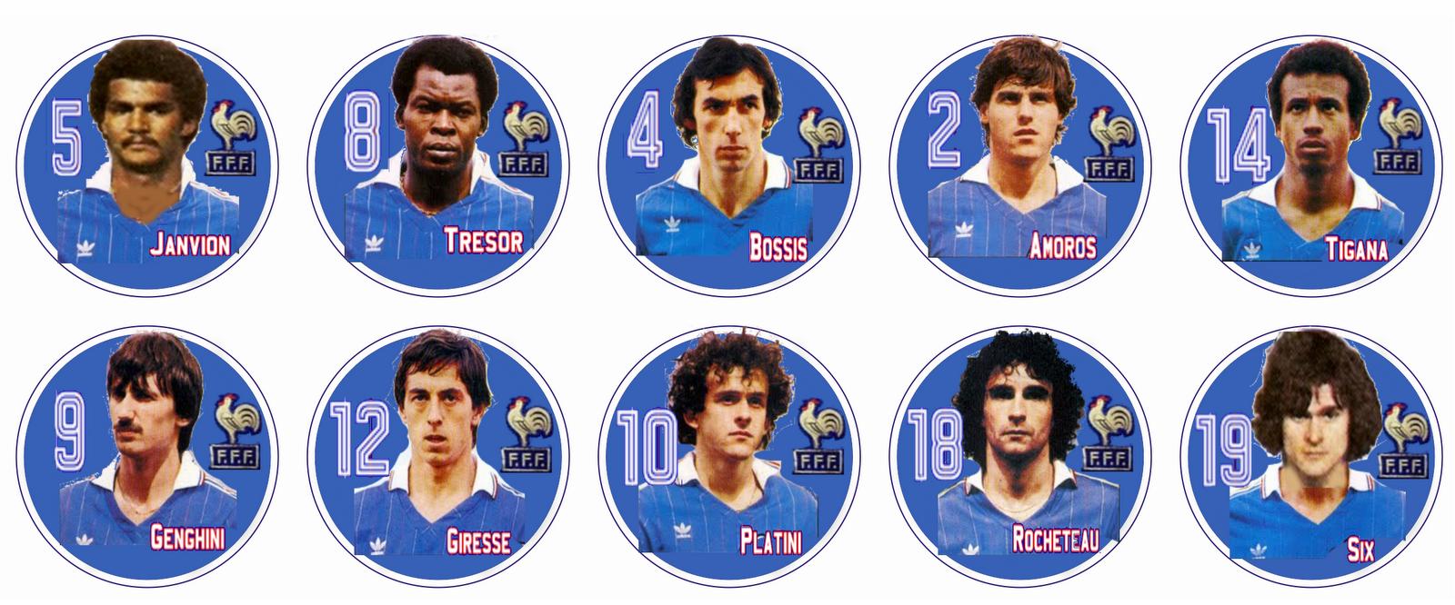 Resultado de imagem para seleção francesa 1982