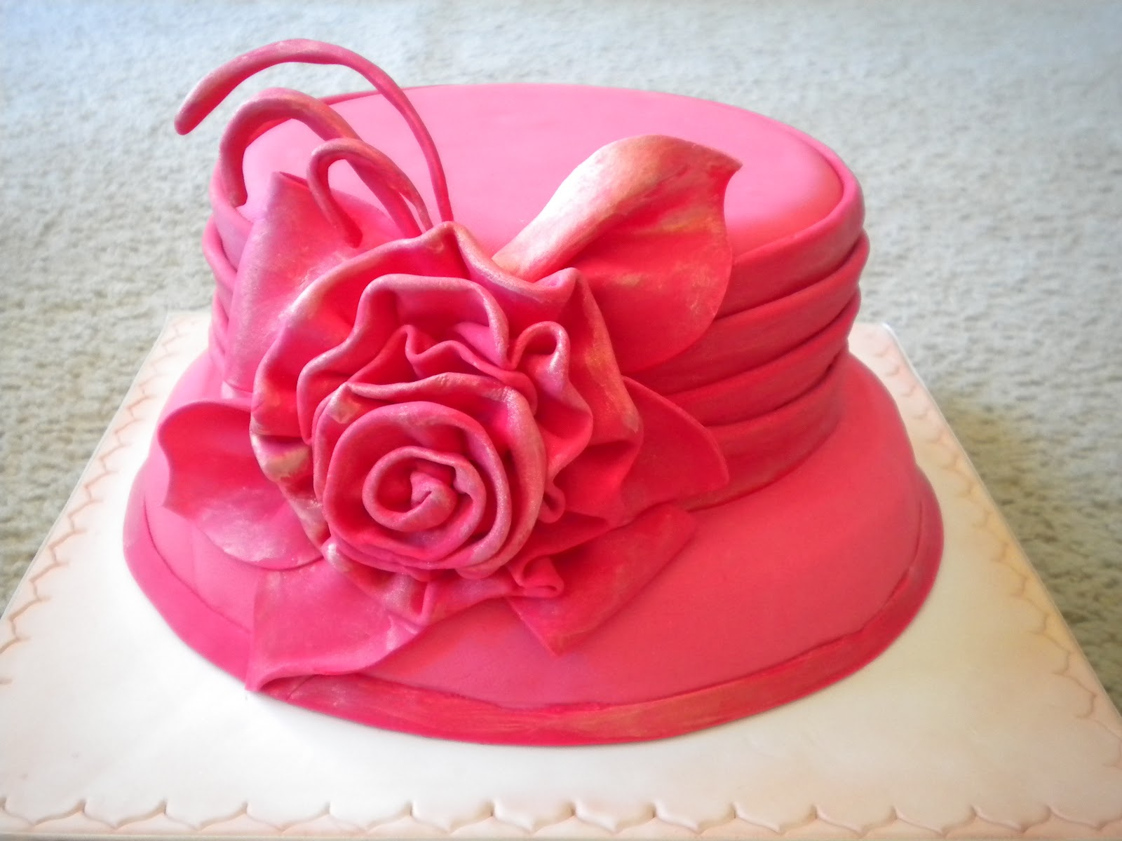 Fancy Hat Cake The Party Cake By Andrea