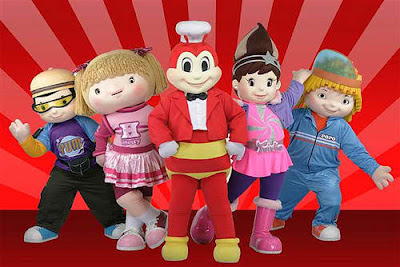 Available mascots for Jollibee party package