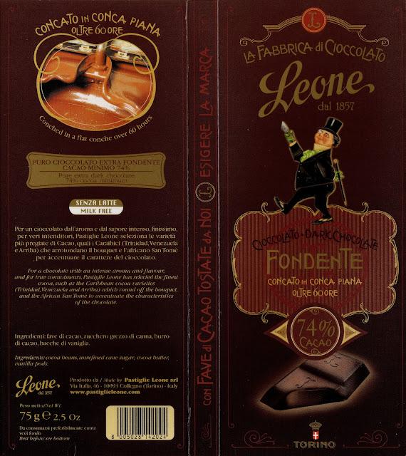 tablette de chocolat noir dégustation leone fondente 74