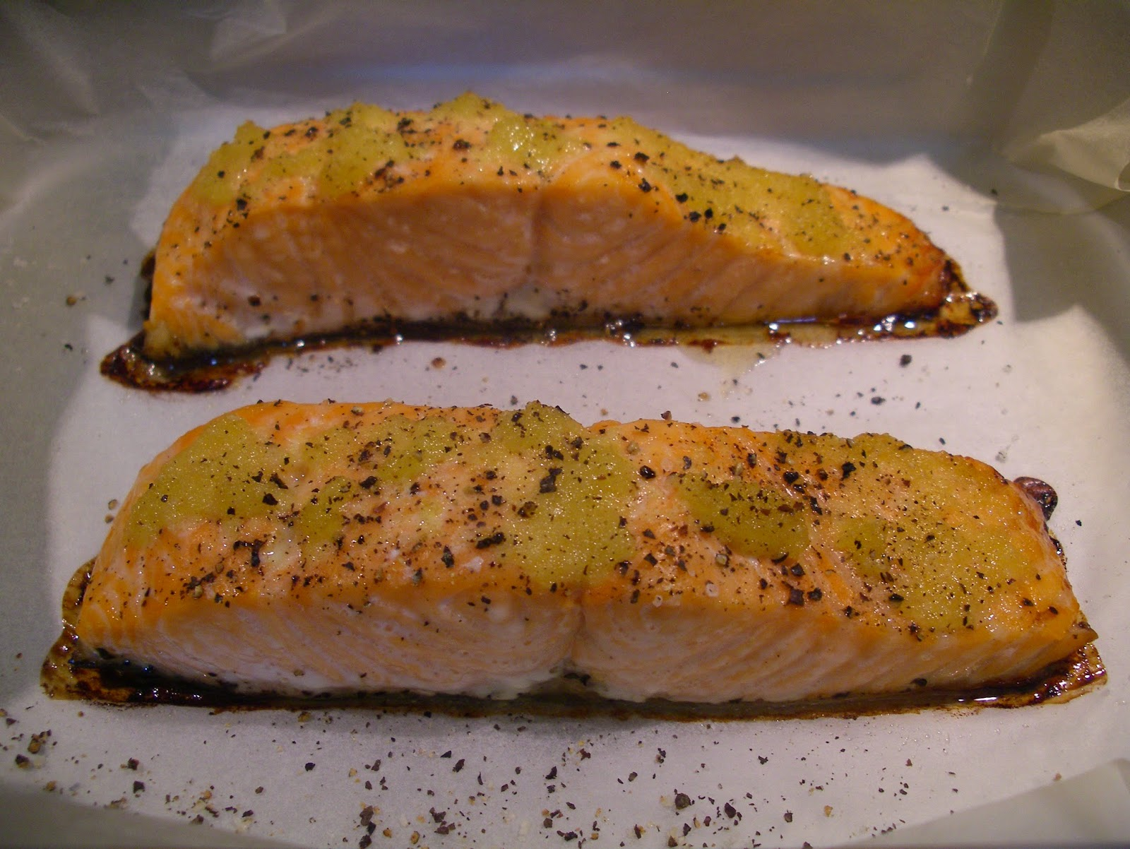 KITCHEN IN THE SAND: Ginger Roasted Salmon