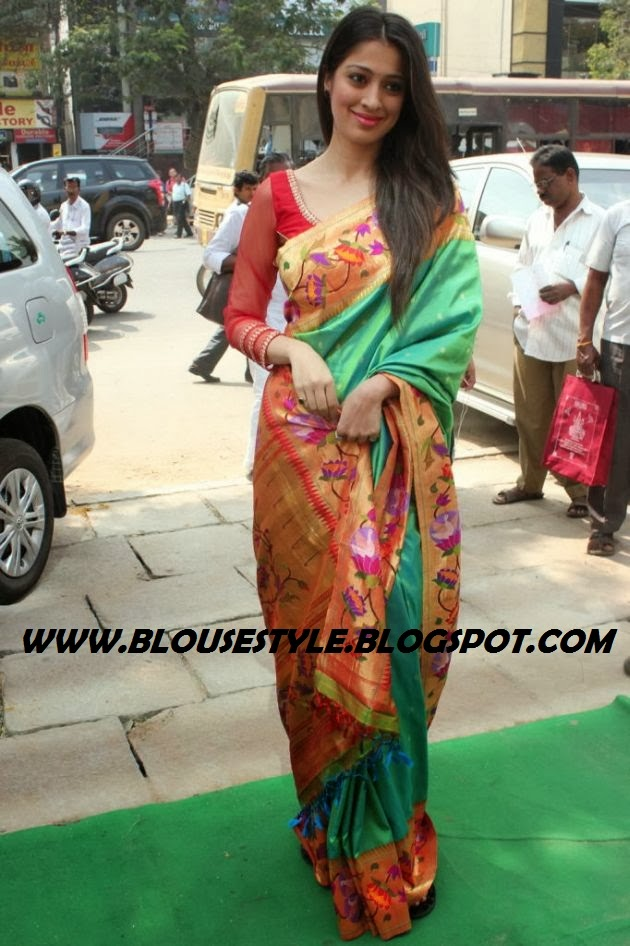 ACTRESS LAKSHMI RAI IN ART SILK SAREE