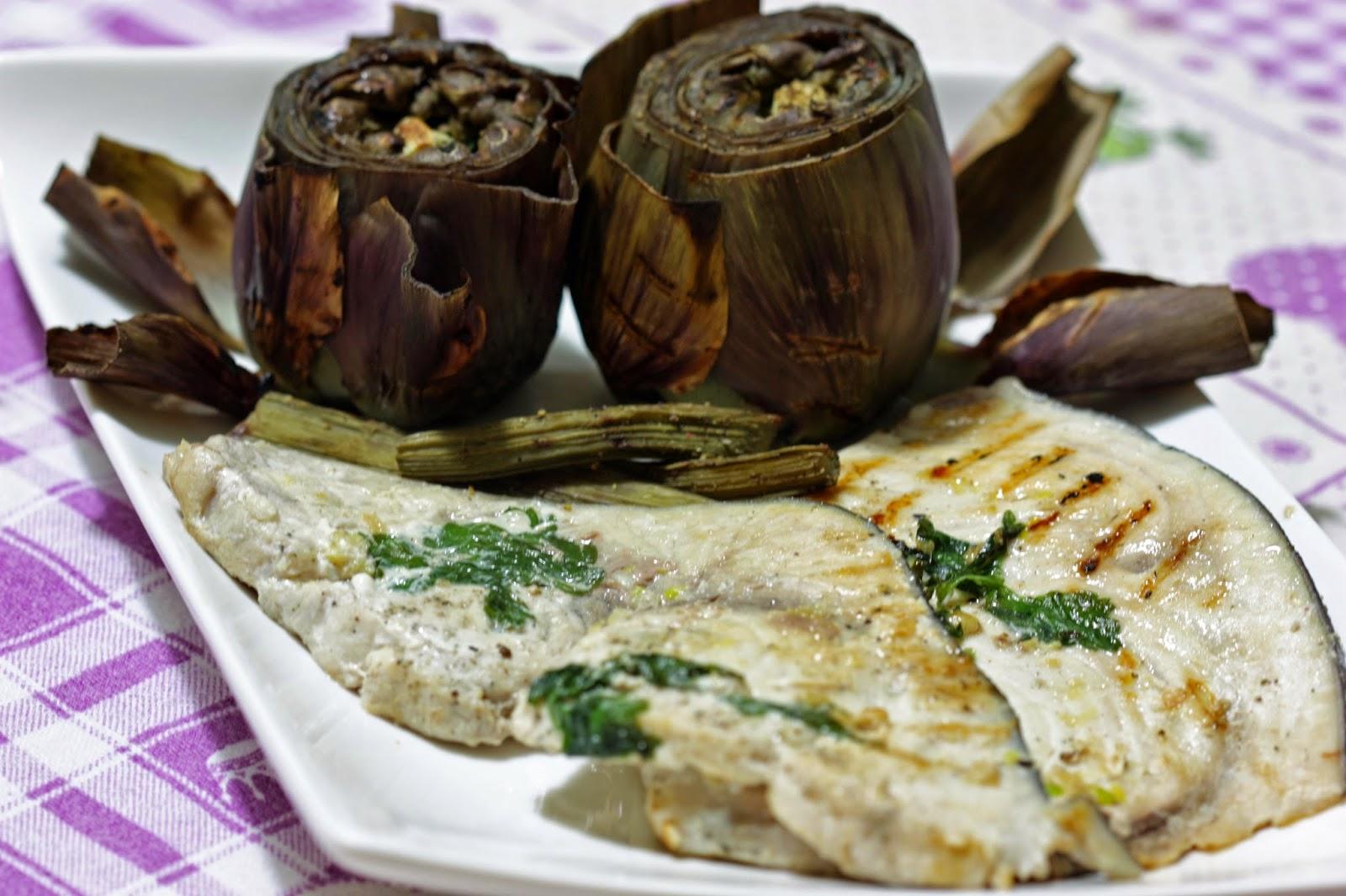 Cucinainprosa Carciofi E Pesce Spada Alla Griglia