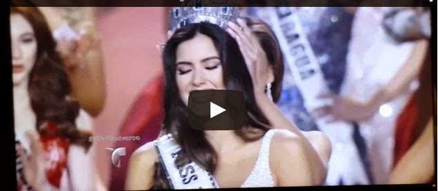 Momento en que coronan la nueva MISS 2015 Paulina Vega