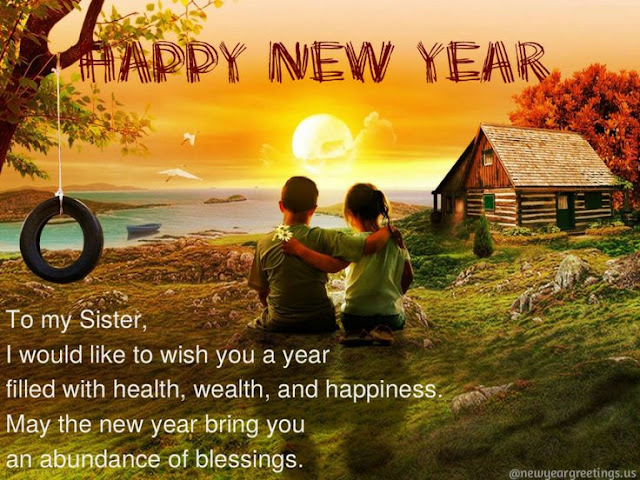 Happy New Year 2016 Wishes For Sister
