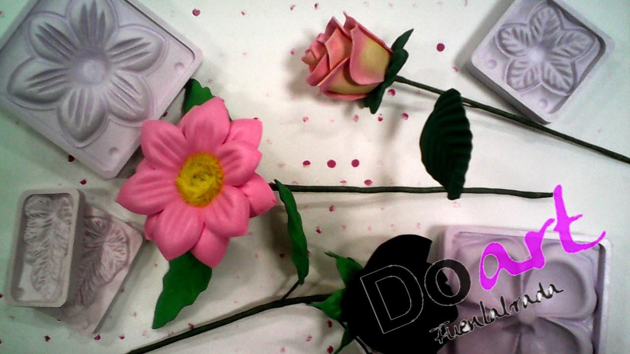 Manualidades De Manu De Doart Flores De Goma Eva Con Moldes