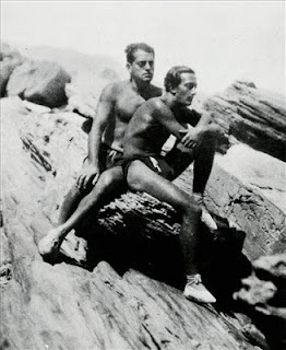 Buñuel y dali en la playa