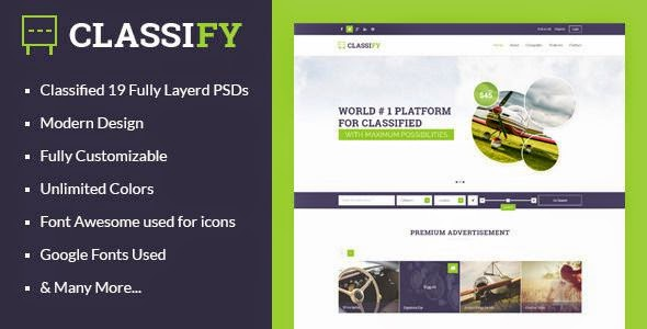 Best Classified Ads Website Template