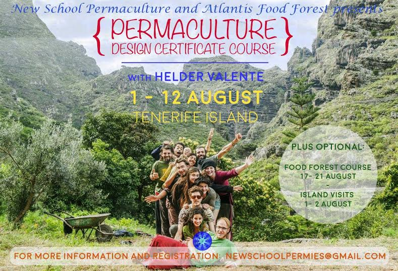PDC Permaculture Design Course 1 to 12 August