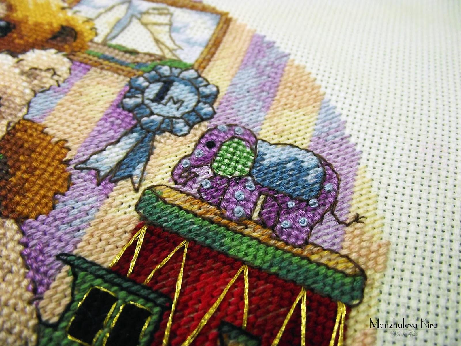схема для вышивки мишки за дверью