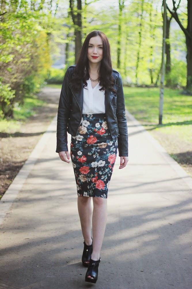 OOTD: Flower Midi Skirt