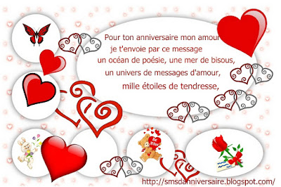 Sms Damour 2018 Sms Damour Message Message Anniversaire Humour