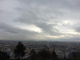 Ausblick Sacre Coeur, Montmartre, Paris