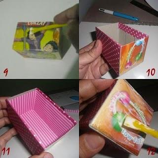 Membuat Laci Mini dari sisa Kardus dan Kaleng Susu 7