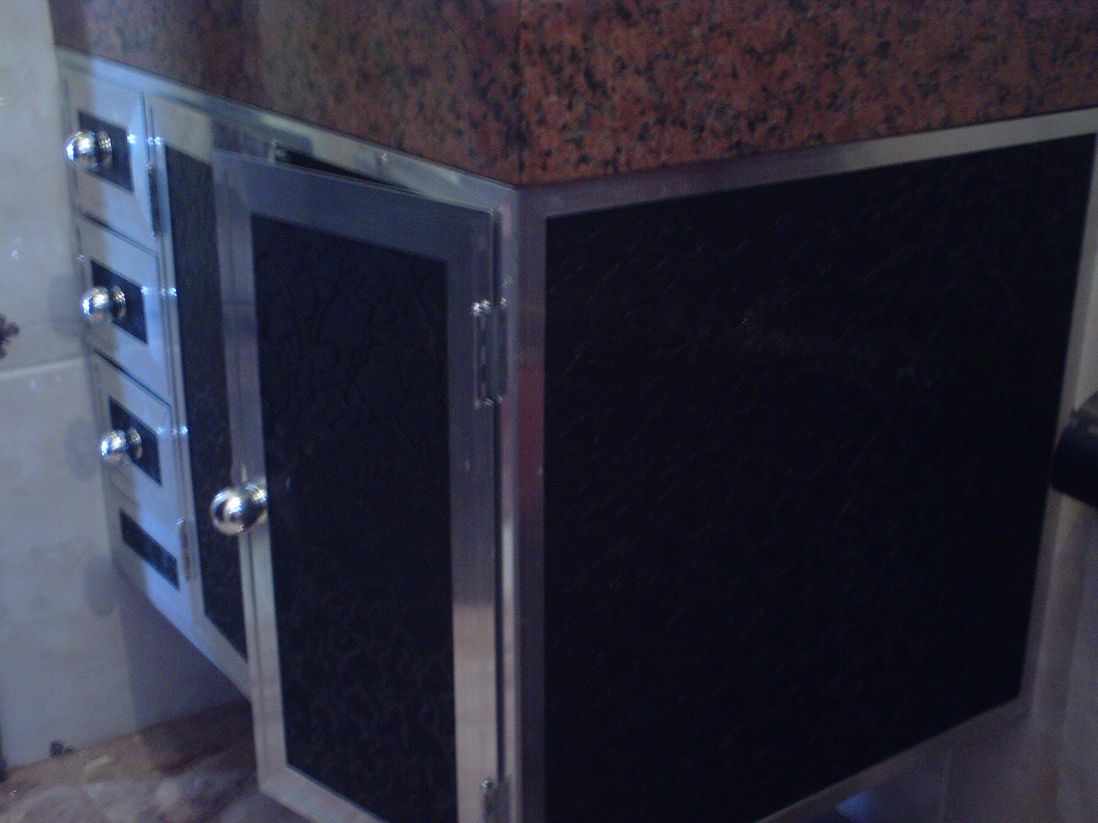 LR vidros temperado Armário de banheiro -> Pia De Banheiro Acrilico