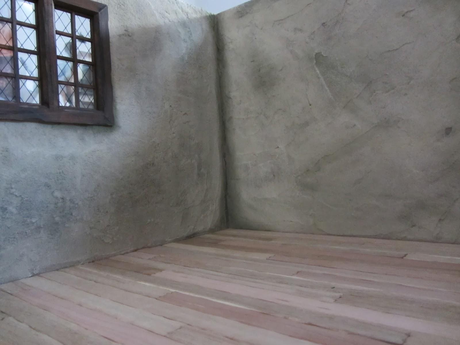De uitdaging van poppenhuizen rieten dak 39 oude 39 muren en vloer cottage - Hoe een verf kleur voorbereiden ...
