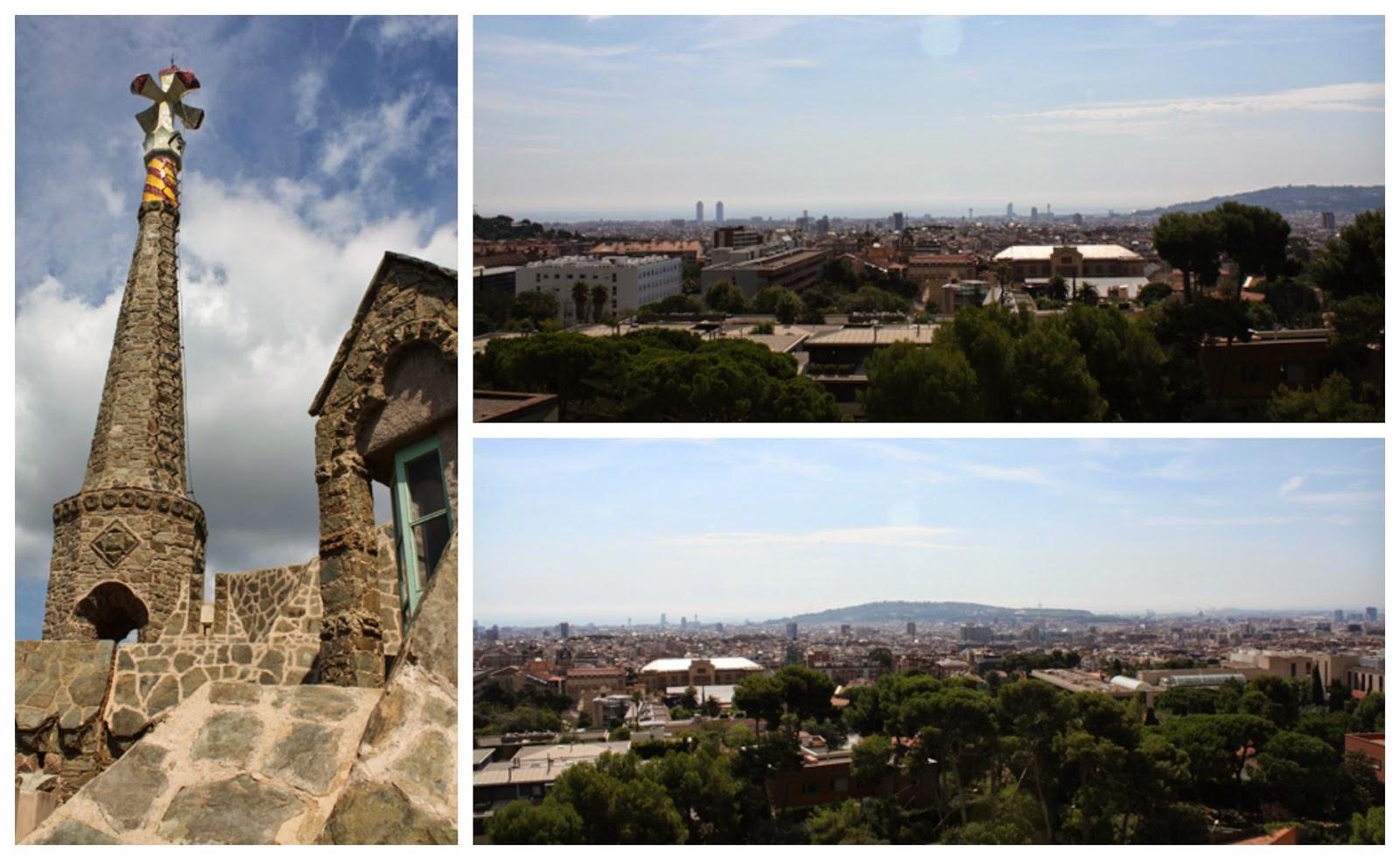 widok na Barcelone