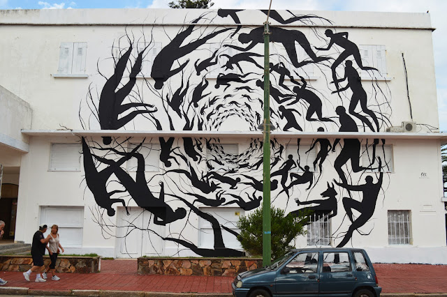 """Vortice"" New Mural BY David De La Mano on the streets of Punta Del Este in Uruguay. 1"