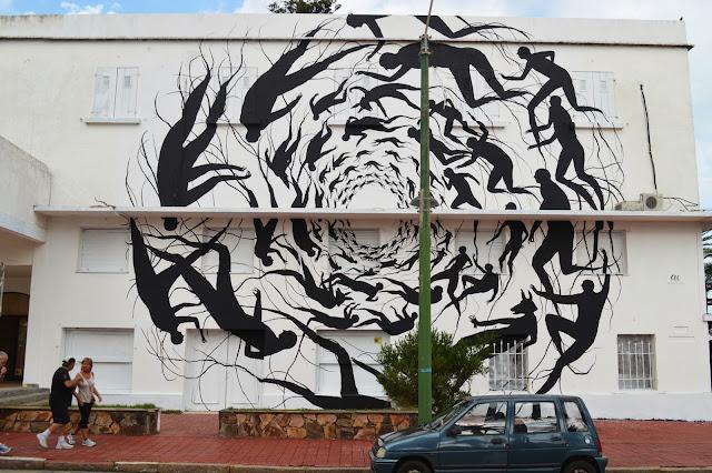 """""""Vortice"""" New Mural BY David De La Mano on the streets of Punta Del Este in Uruguay. 1"""