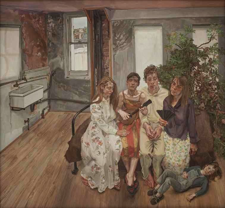 Lucian Freud - Large interior ( after Watteau),1981-3.