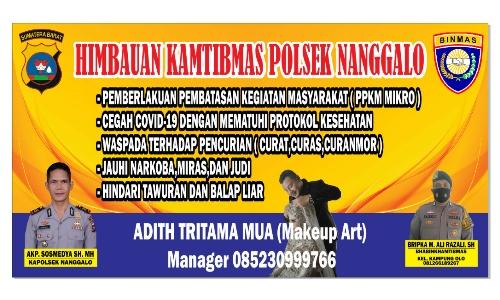 Baliho Himbauan Polsek Nanggalo dari sekolah make up artis adith tritama