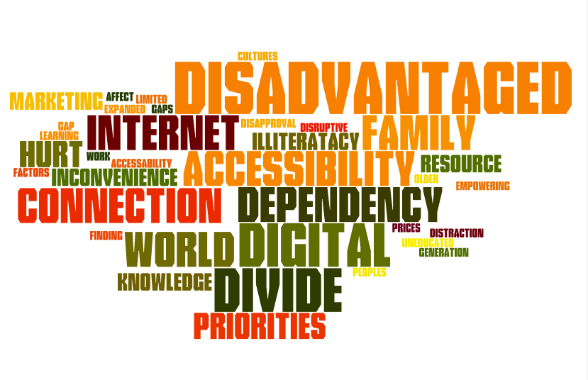 dissertation + digital divide Digital divide a digital divide is an economic inequality between groups, broadly construed, in terms of conceptualization of the digital divide is often as follows: 1 subjects of connectivity, or who.