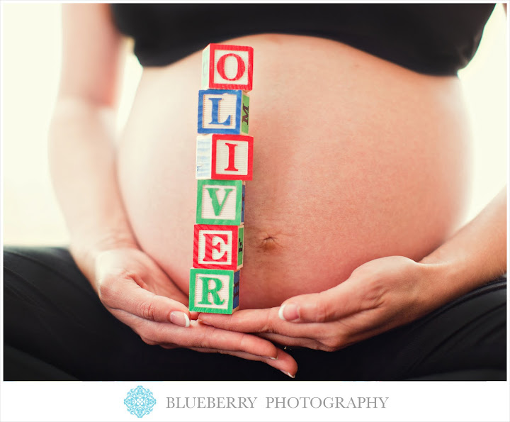 cute san francisco baby name with blocks maternity photography session