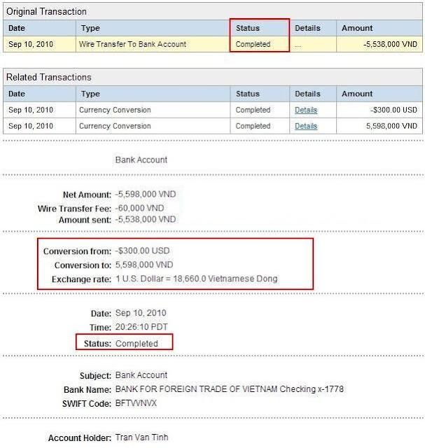 Cách rút tiền từ PayPal về ngân hàng Việt Nam