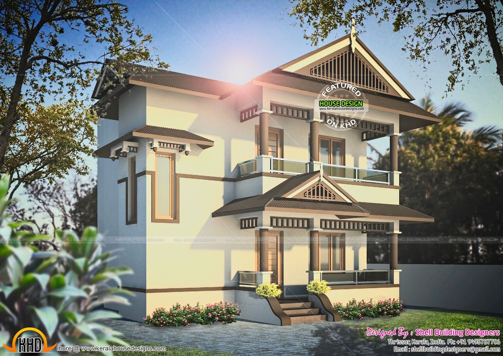 September 2015 kerala home design and floor plans for Konkan home designs
