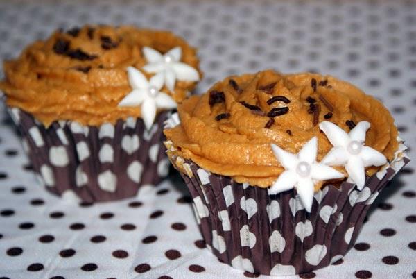 Cupcake de dulce de leche y Nutella