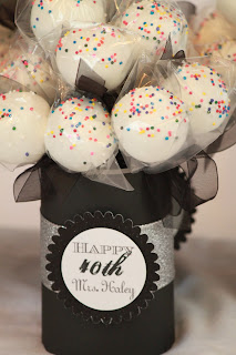 The Blackberry Vine: 40th Birthday Cake Pops