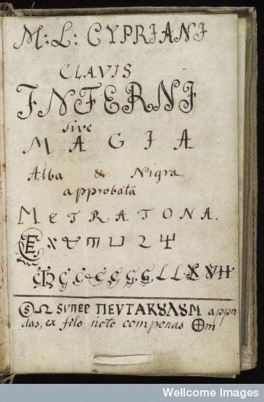 """El Acrónimo Jesuita """"I.H.S."""" en el Grimorio de San Cripriano 891c4abd0dbe12b7983bdd554ed9"""