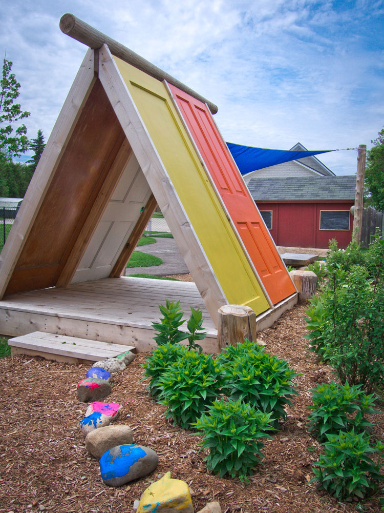 Playhouse Made From Recycled Doors