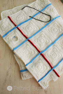Love Notes Blanket Crochet Pattern by Susan Carlson of Felted Button