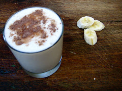 Secretly healthy coconut and banana milkshake