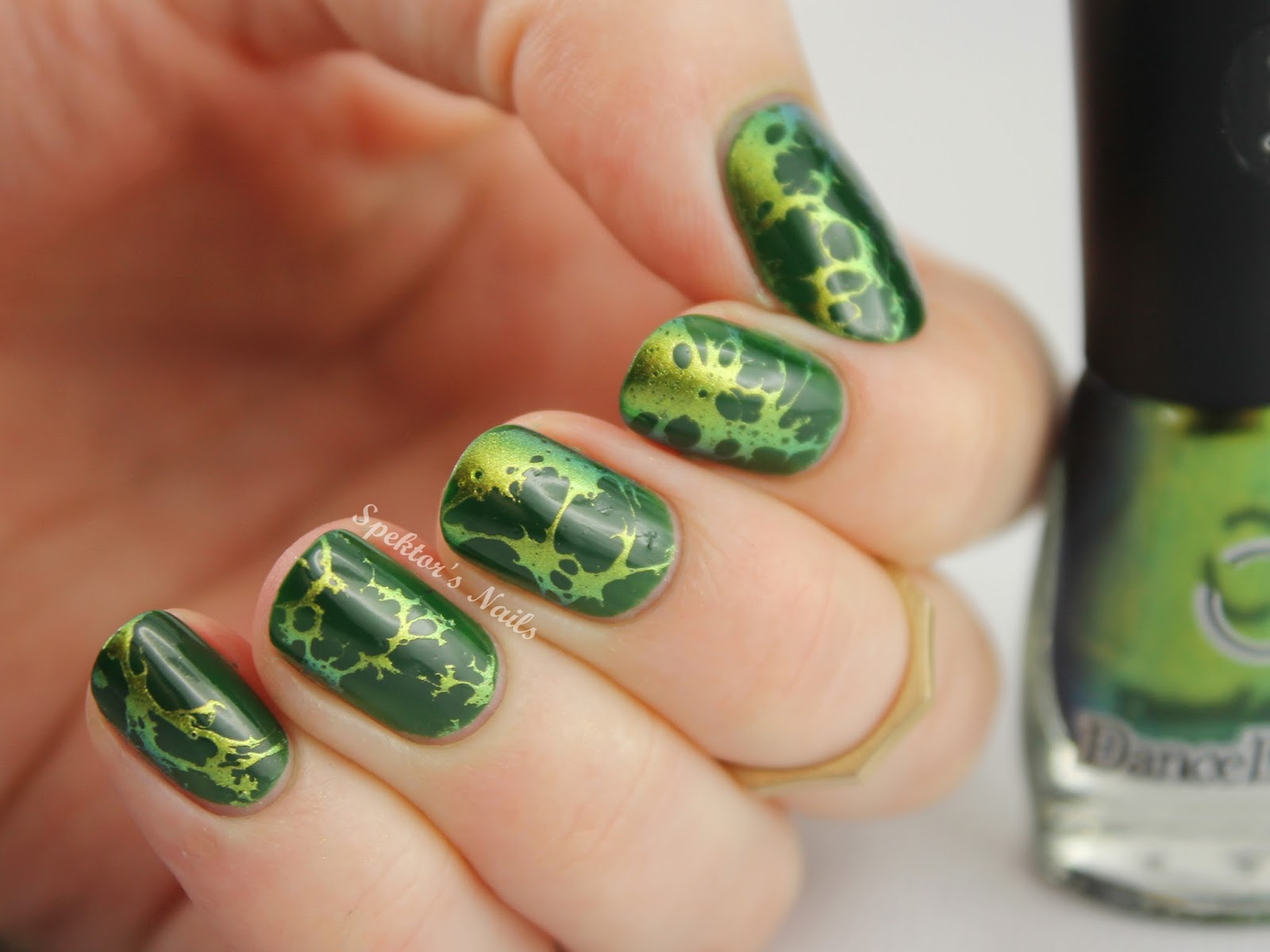 Waterspotted Chameleon Nail Art Dance Legend Wazowski