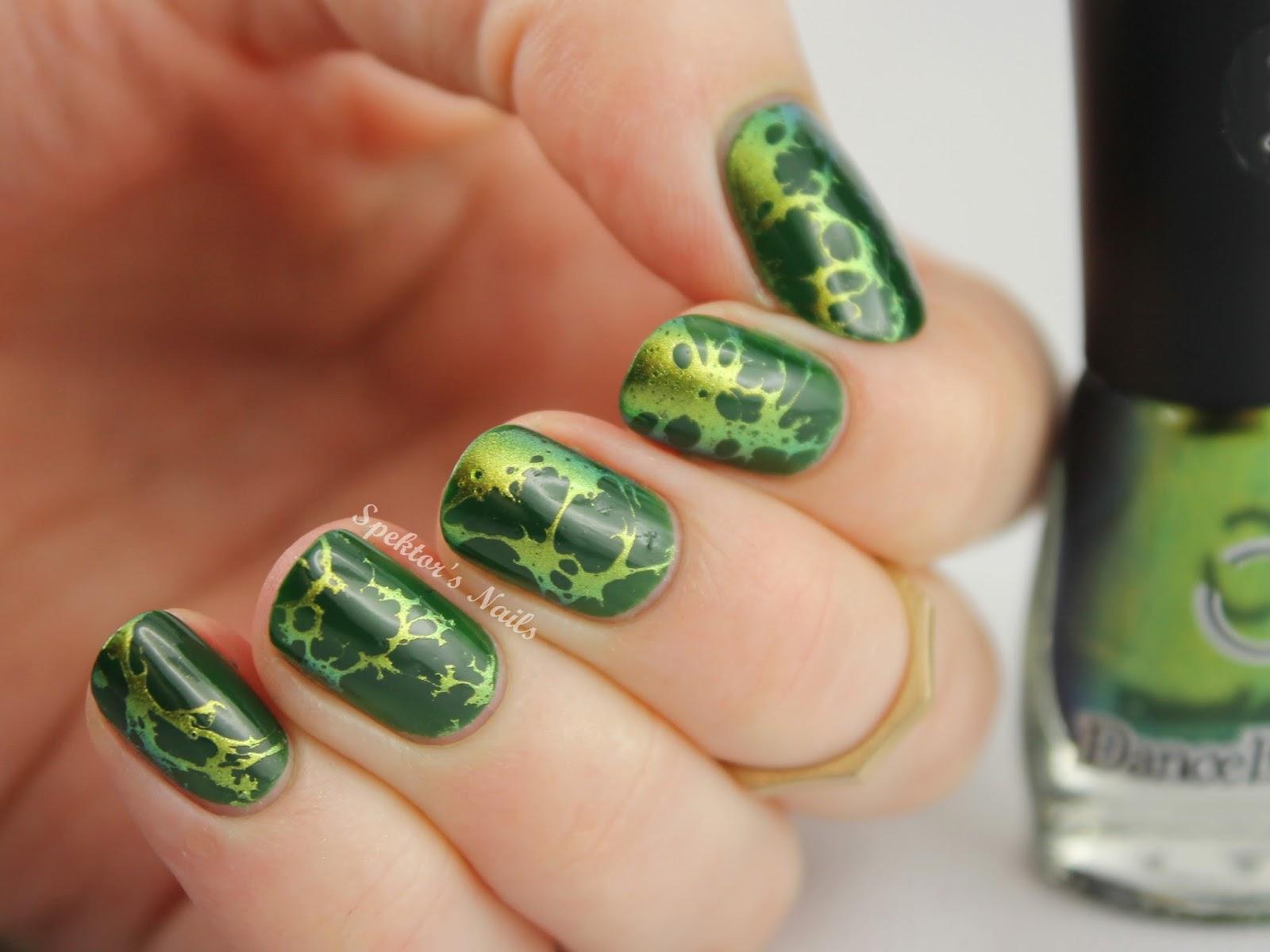 Waterspotted Chameleon Nail Art Dance Legend Wazowski