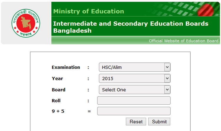 Hsc Result  In Bangladesh Education Board