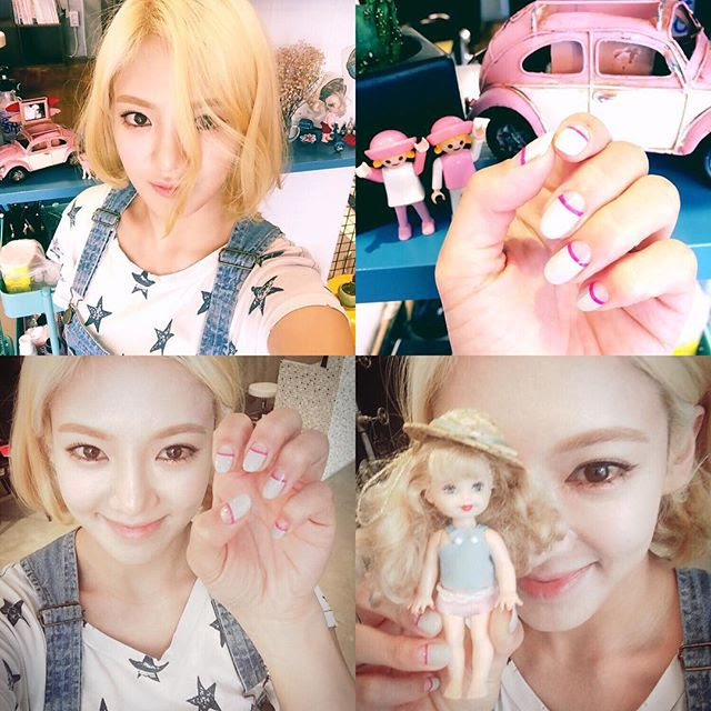 Snsd hyoyeon shows off her latest nail art wonderful generation snsd hyoyeon shows off her latest nail art prinsesfo Image collections