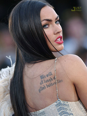 megan fox tattoo poem