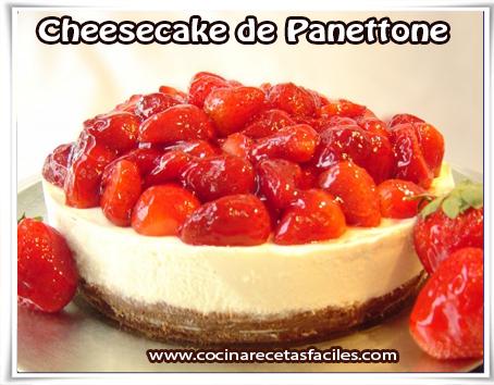 Recetas navideñas, postres, Cheesecake de Panettone