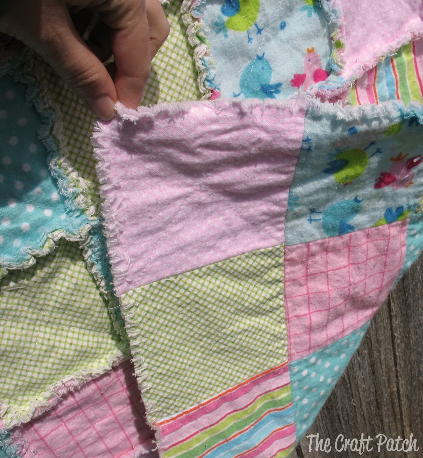 Baby Gift Quilt : The craft patch making a rag quilt great baby gift