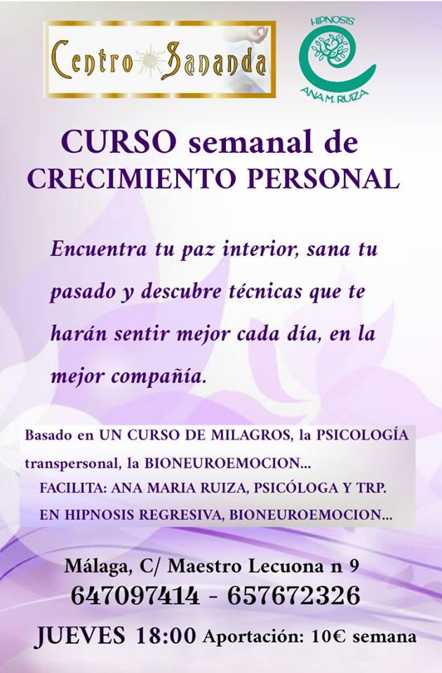 CURSO SEMANAL DE CRECIMIENTO PERSONAL