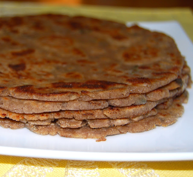 Arbi Paratha, an Indian vegan recipe, gluten-free