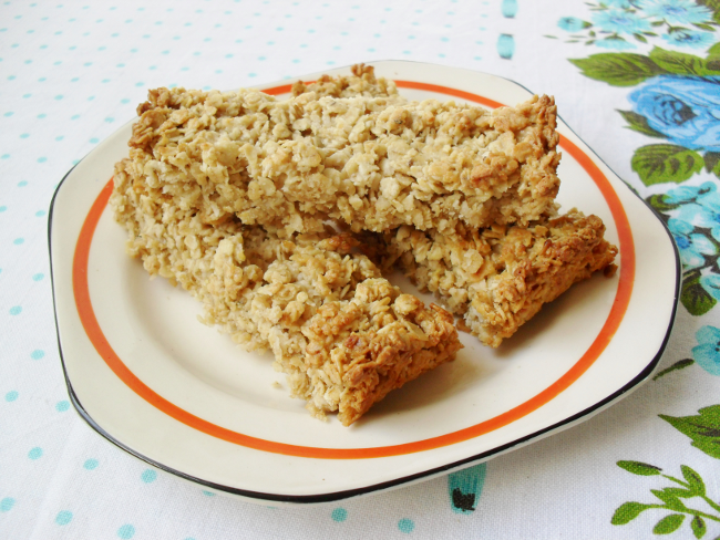 sugar free coconut oat bars
