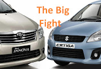 comparison: maruti ertiga vs toyota innova reviewed