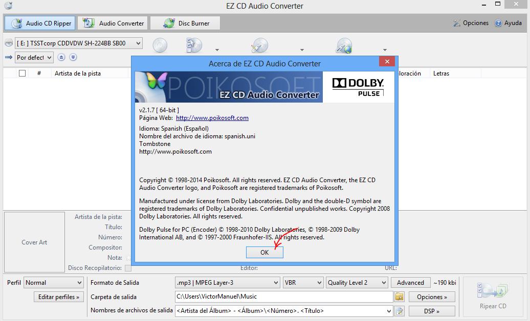 EZ CD Audio Converter 2.1, un excelente convertidor de